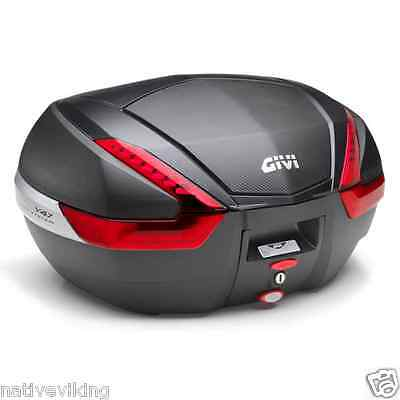 GIVI V47 monokey TOP BOX 47 litre top case BLACK with CARBON look panel V 47 NN