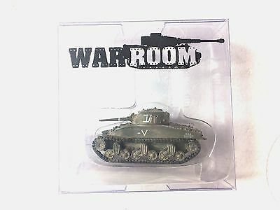 1/144 WWII Tanque Sherman M4A1 2GM Painted GREEN A ACI Tank Metal troops Nuevo