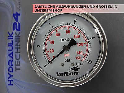Hydraulic Manometer Glycerin Stainless Steel Eco-Line 0-10 BAR