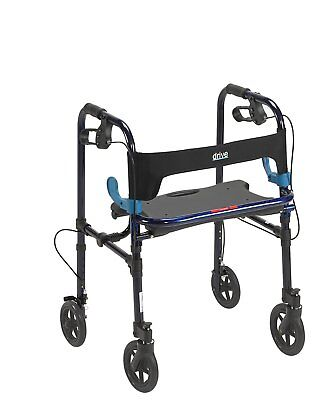 Drive Medical 10243 Clever Lite Rollator Walker With 8 Casters NEW