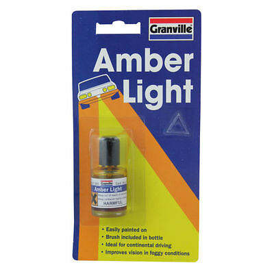 Granville Amber Light Headlight Lacquer 9ml Car Vehicle Maintenance Paints