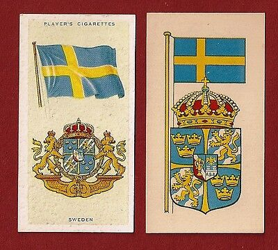 SWEDEN  National Flag   1938 1967 original cards