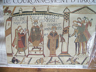 Battle Of Hastings Bayeux Tapestry Fabric Printed Outline No Yarn French