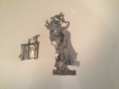 Rackham Confrontation Figure, Human Wizard, Metal And Unpainted