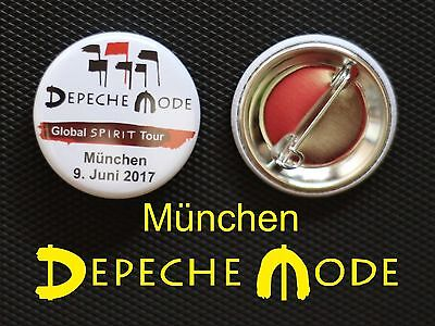 Depeche Mode - Button Badge Anstecker - DM Global Spirit Tour München 2017