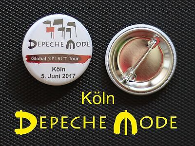 Depeche Mode - Button Badge Anstecker - DM Global Spirit Tour Köln 2017