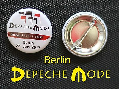 Depeche Mode - Button Badge Anstecker - DM Global Spirit Tour Berlin 2017