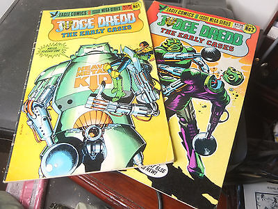 2000 AD - Judge Dredd  / Graphic Novel / Comic – The Early Cases  x25