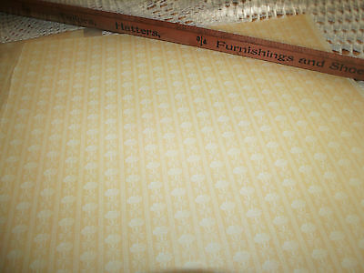 2 SCHUMACHER Millie Auguest Dollhouse Wallpaper CORSAGE STRIPE PARCHMENT 12X18