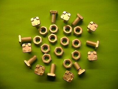 10 to 100 Greenhouse square head 11mm aluminium bolts+nuts (see also our clipsx