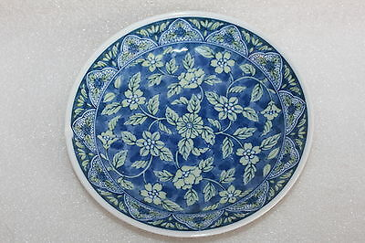 Signed Japanese Porcelain Blue & White Shallow Bowl