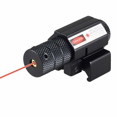 Tactical Red Laser Dot Sight Scope+Air Rifle Pistol Rail Mount 20mm Hunting