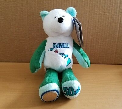Limited Treasures State Quarters Coin Teddy Bear Hawaii #50