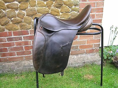 "17"" Arabian Saddle Company Saddle In Dark Havanna Wide Fit"