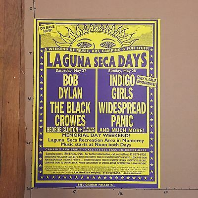 Bob Dylan + Black Crowes + Widespread Panic 1995 Concert Poster