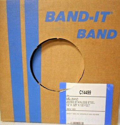 "BAND-IT Valuband Band C14499, 200/300 Stainless Steel, 1/2"" x 0.025"" E21"