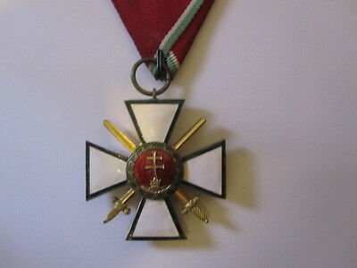 Hungary Order of Merit Knights Cross Military w/ Swords 4th Class WWII 1940-44