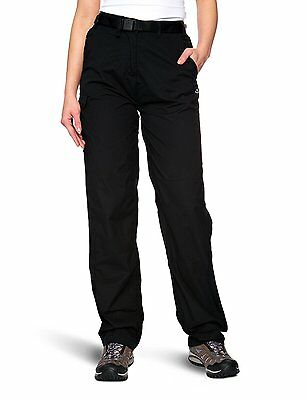Craghoppers Womens Classic Kiwi Walking Trousers Black Regular-Size 12
