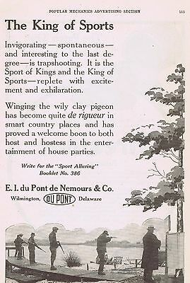 1917 Advertisement - E.I. DuPONT de NEMOURS & CO., WILMINGTON, DE - TRAPSHOOTING