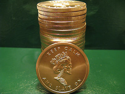 """20 """"Free Reign"""" 1 oz .999 Copper 20 beautiful rounds 1 Roll  Limited & Rare"""