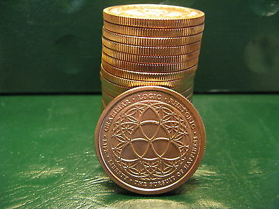 """20 """"Trivium/Freedom Girl"""" 1 oz .999 Copper 20 beautiful rounds Limited & Rare"""