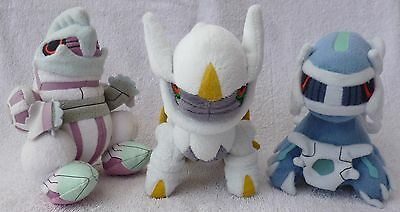 3 Official Pokemon Center Palkia Arceus Dialga Pokedoll Set Soft Plush Toy Japan