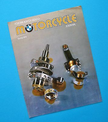 1979 BMW Motorcycle Journal Touring R100RS R60/7 R80GS R80/7 R100RT