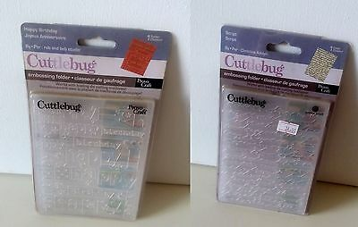 Cuttlebug embossing folders - Happy Birthday or  Script 4.25' X 5.5'