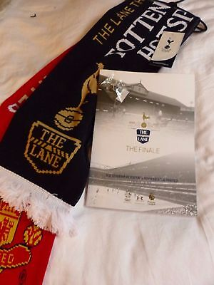 Tottenham Manchester United  May 2017 Programme Scarf 'the Lane' Badge Set