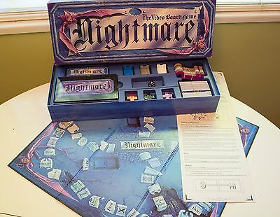 Nightmare Video Board Game VHS VCR 1981 Chieftan Games Complete