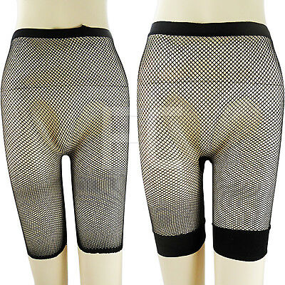 New Womens Ladies Fishnet Net Netted Shorts Cycling Hot Pants Celeb Stretch Size