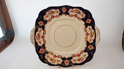 "Royal Albert CROWN CHINA Heirloom Square 10 1/4"" Handle Cake Plate"