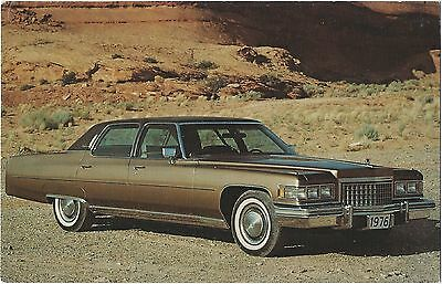 1980 Cadillac FLEETWOOD BROUGHAM Dealer Promotional NOS Postcard UNUSED VG+//EX ^