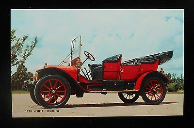 1950s 1910 White Touring Early Automobile Postcard