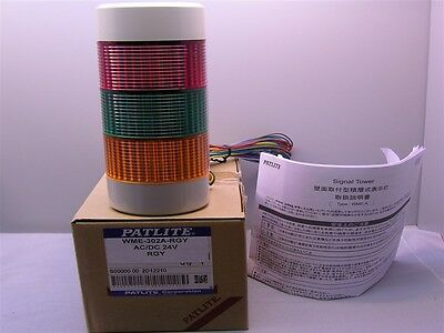 1 Patlite WME-302A-RGY Wall Mount Signal Tower Red, Green, Yellow 24V AC/DC
