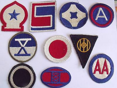 Ww2 Us Army Lot Of 10 Salty Used Original Cut Edge Patches All Different Lot #2