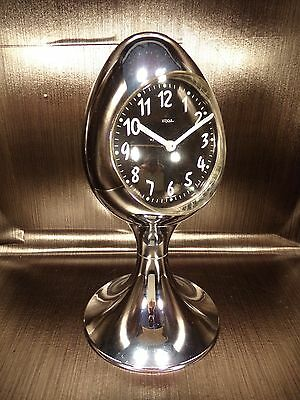 OSKAR clock alarm chrome tulip egg reveil tulipe space age 70's vintage W.German