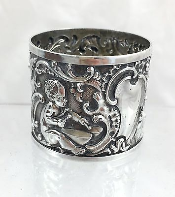 Antique Victorian Sterling Silver Large Napkin Ring *london 1891 + Brewis & Co*