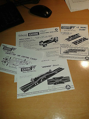 Scalextric Le Mans Start+Good wood +Grande Bridge Instructions  etc...