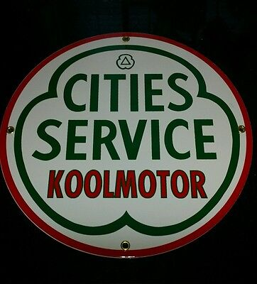CITIES SERVICE.... GASOLINE Oil Gas Porcelain Advertising sign