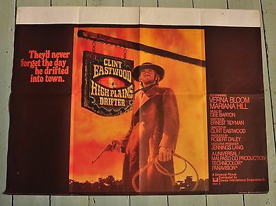 "High Plains Drifter original release UK quad movie poster 30"" x 40"" - 1973"