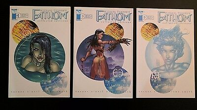 Lot of 3 Michael Turner's Fathom Collected Editions #1 3 5 Image Comics 1999