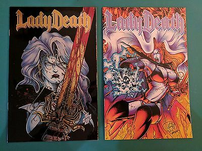 Lady Death #1 & #3 1994 Chaos Comics The Reckoning Limited Series