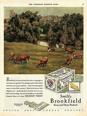 1929 AD Swift's Brookfield butter dairy products
