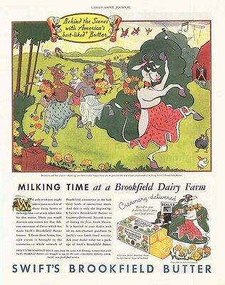 1933 AD Swift's Brookfield butter Brooksie and her sister dancing wildly