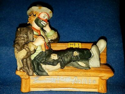 Flambro Emmett Kelly Jr Signature Collection figurine Wet Paint HAND SIGNED 1990