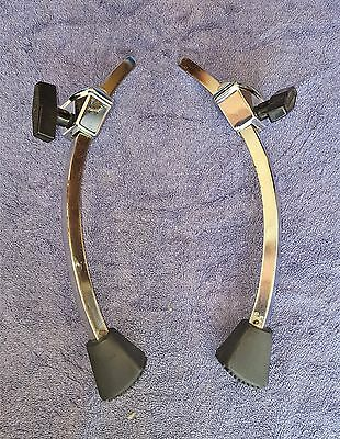 """VINTAGE 70's LUDWIG 1/2"""" ARCH SPURS AND BRACKETS – NICE!"""