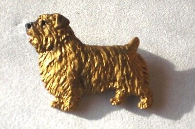 Norfolk Terrier  Dog Resin  Handpainted Pin~Awesome detail!