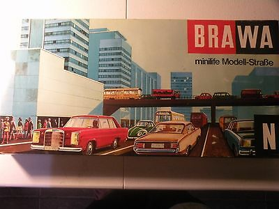 Brawa Minilife Modell Strabe Nr. 1100 N Scale trolley bus & highway System