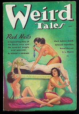 WEIRD TALES LOT v28 #1,2,3  (1936) CONAN 3 part HOWARD, BRUNDAGE gga Horror PULP